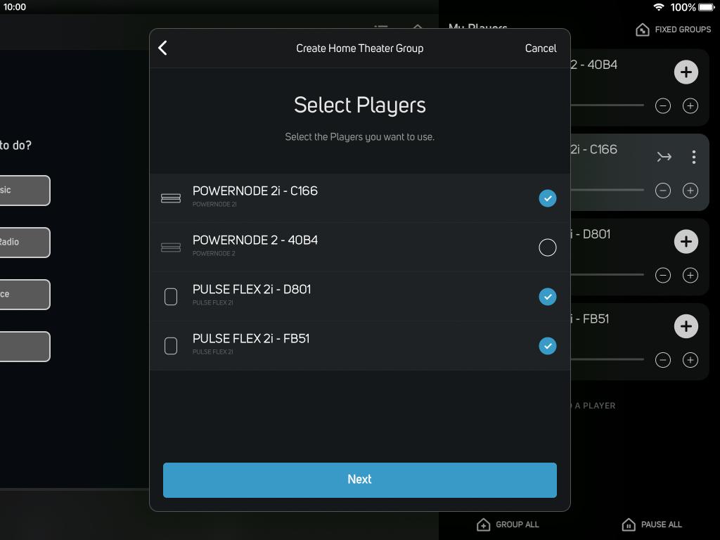 BluOS 3.8 software update screenshot iPad