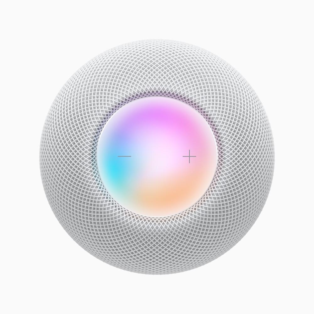 Apple HomePod mini overhead view