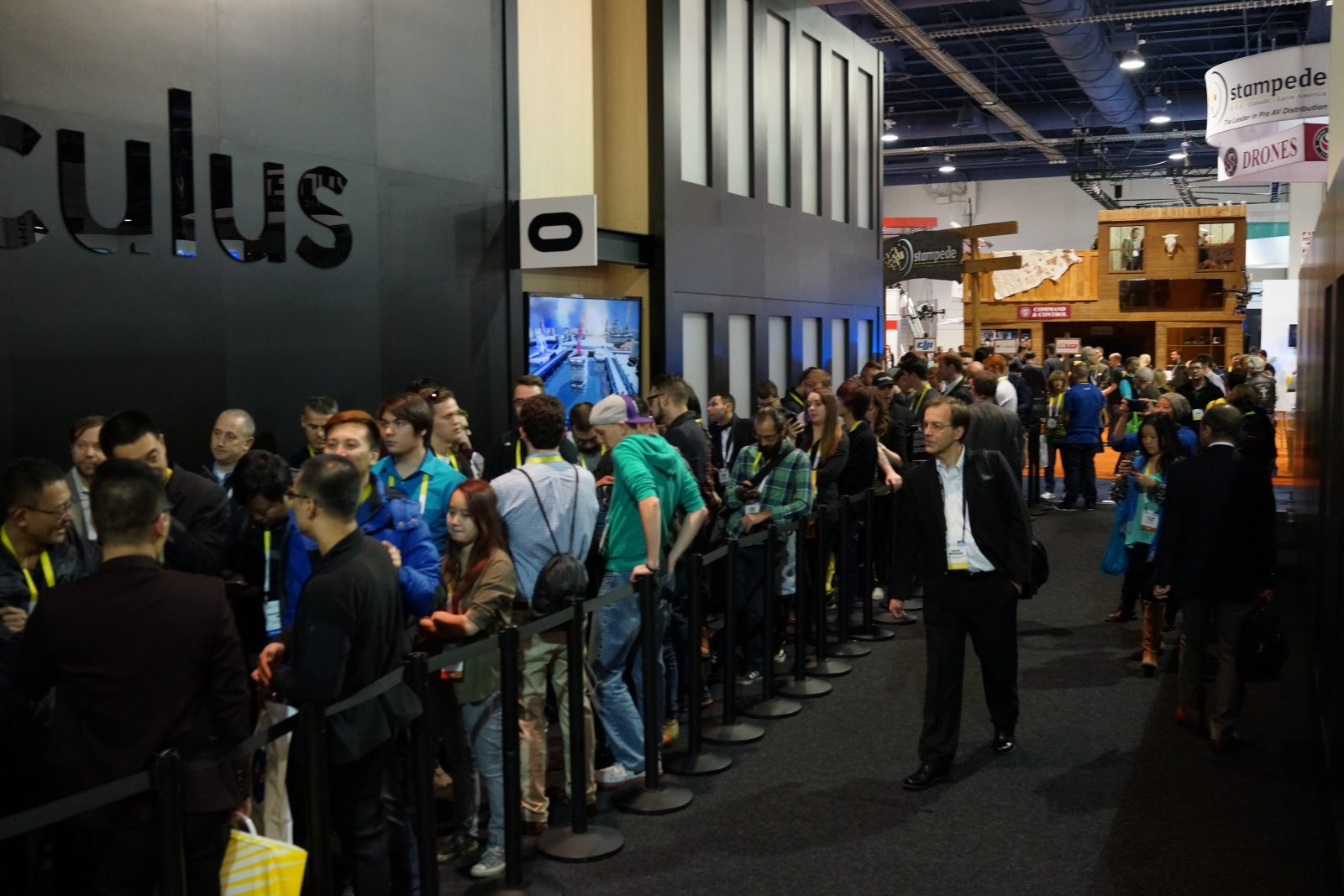 Crowd shot from CES