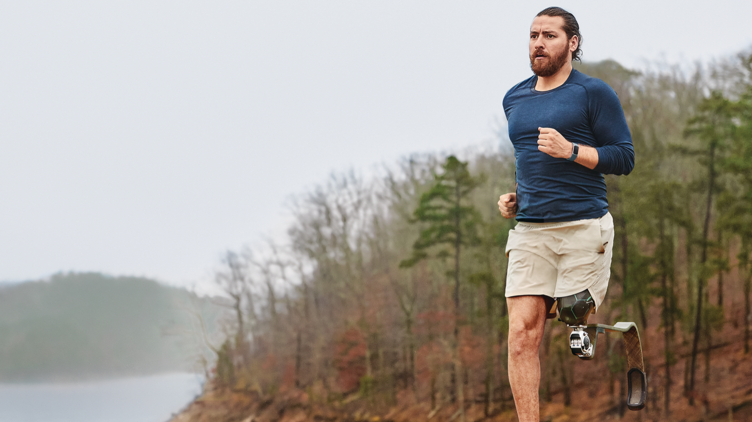 Runner wearing the Fitbit Charge 5