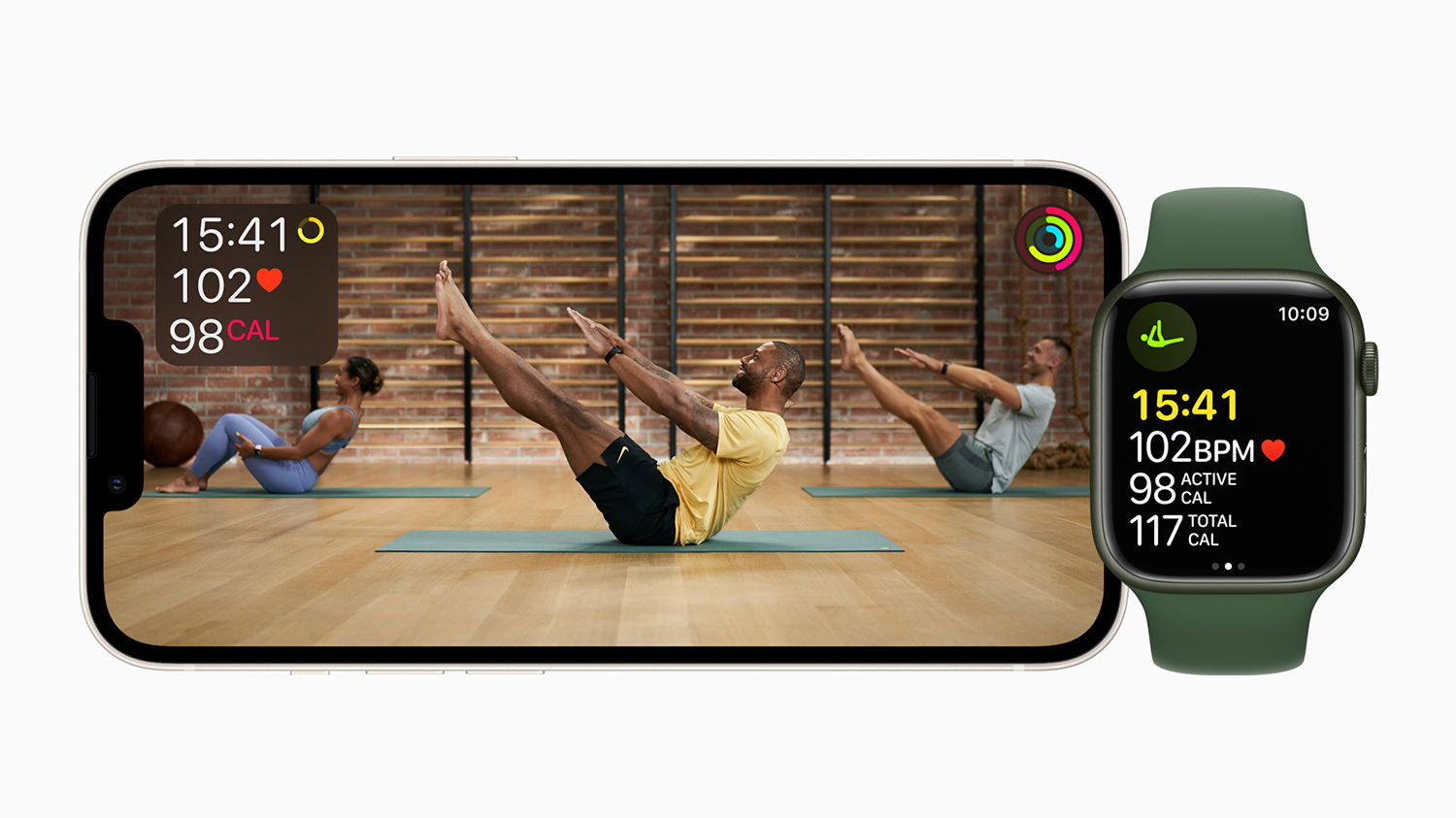 Apple Fitness+ pilates workouts